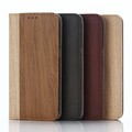 PU Leather Wood Pattern Wallet Case for Samsung Galaxy s7