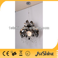 Silver modern crystal stainless steel pendant lighting for home