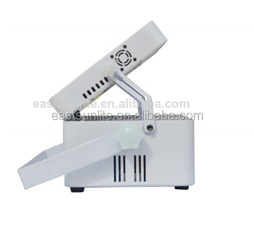 Wireless 9*10w RGBW 4 in 1 led flat par light