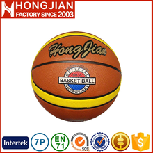 HB022 Size 7 12 panel orange basketball for gift in china
