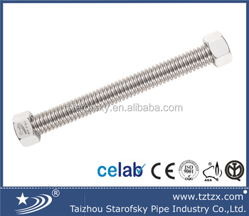 304 316l Stainless steel metal annular corrugated flexible hose/adopt ACS STAROFSKY TZX-B0061