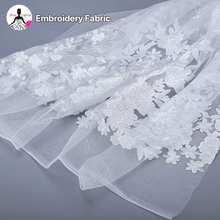 new arrival flat flower embroidery tulle cheap lace fabric bridal french lace