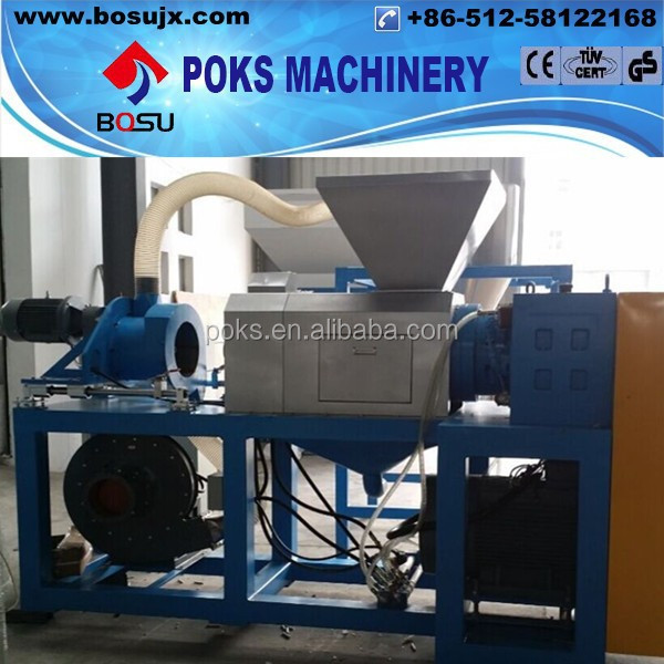 Plastic PE film squeezer dewatering machine