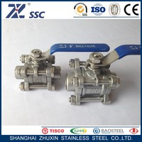 1000 WOG PN16 PN25 PN40 PN64 WCB CF8 CF8M 304 316 Three Piece 3PC Type Stainless Steel Welded Ball Valve