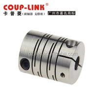 Flexible stainless steel shaft coupling