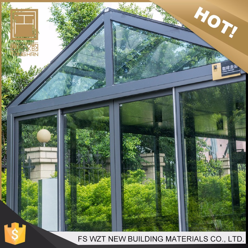 Made in china UV resistance heat insulation portable glass sunroom