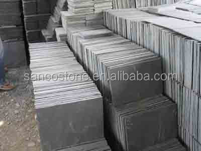 Thin Black Quartzite Slate Tile Wall Decoration Tiles Slate Type and Machine-Cut Surface Finishing wall