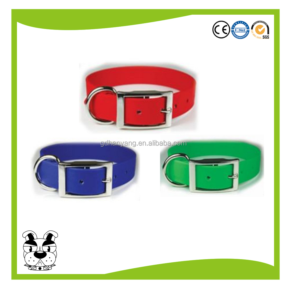 high quality waterproof dustproof PVC plastic TPU Coated Dog Collar