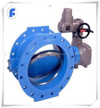 DN80-1200 automatic electric double eccentric butterfly valve for sale
