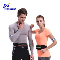 Clear durable recycled poyester waist bag with shoulder led light strap