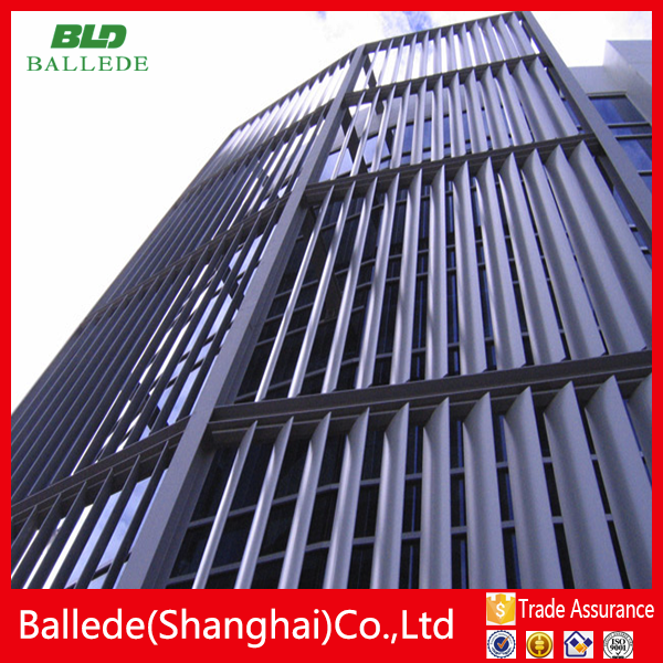 simple operation aluminum curtain wall louver for construction