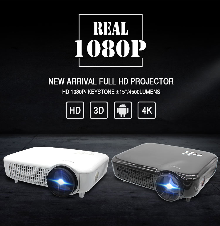 Svikor High Contrast Ratio 6500 Lumens 4K Projector for Home Cinema