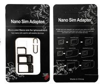 Nano Micro Sim Card Adapter Converter for iPhone 4/4S/5