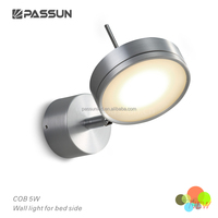 aluminium led indoor wall light with switch on the base