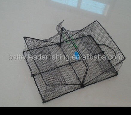 Cheap chinese wholesale folding crab trap fishing traps for Fishing pole crab trap