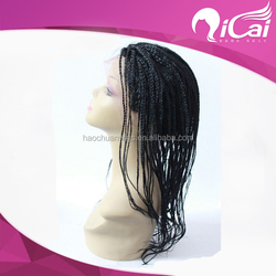 Unprocessed full lace braided wig,full lace wig virgin hair for black women