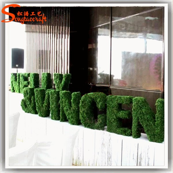 Creative engineering football wall showcase chinese artificial grass features binding system artificial grass prices