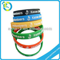 Wholesale Customized Relief Embossed Silicone Rubber Bracelet