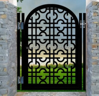 modern steel gates and fences