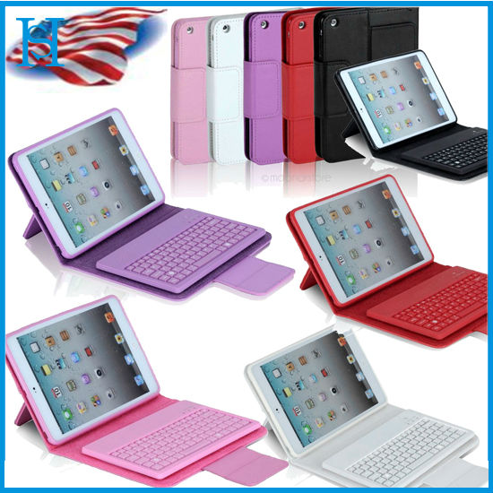 New Stand Leather Case Cover With Bluetooth Keyboard For Apple iPad Mini