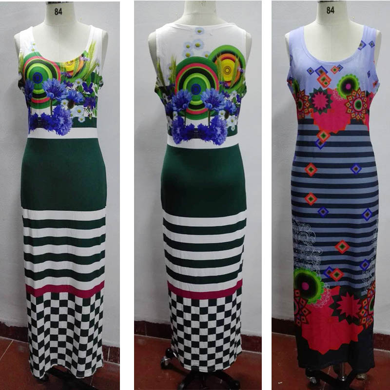 Original Design Printted LONG Dress Clothing M001