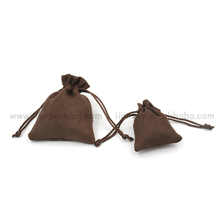 High Quality Soft Drawstring Suede Pouch For Selfie Stick