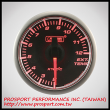 PROSPORT 45mm Analog Gauge Series Black Face Exhaust Gas Temp Auto Gauge Auto Meter