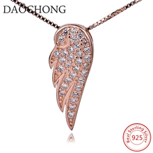 Hot Sale New Fashion Rose Gold Plated Trendy Angel Wing Necklace