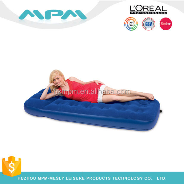 Fashion Design Single Layered Inflatable Bed Pvc Air Mattress