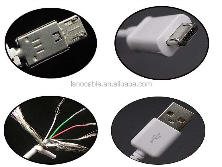 3ft braided aluminum alloy 5pin micro usb cable