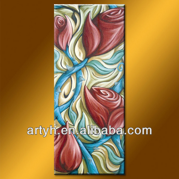 Beautiful abstract modern flower wholesale canvas painting
