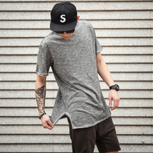 Popular Fashion Design Longline mens plain white/black t-shirts