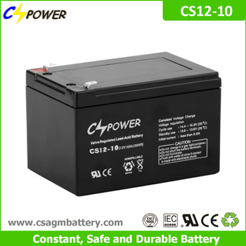 Cspower agm 12V 10Ah rechargeable ups battery for Power tools