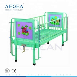 CE ISO back section adjustable platform clinic cartoon pattern medical bed for baby cot use