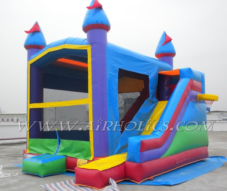 2016 Hot sale inflatable combo, inflatable castle slide, inflatable bouncing castle for kids A3020