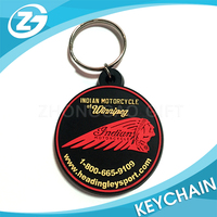 Promotion Advertising Oval Round Customized Shape Die Cut Logo Soft PVC Rubber Silicone Keyring