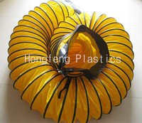 12 inch yellow ventilation suction flexible spiral duct , pvc pipe with CE certificate