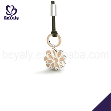Shiny stainless steel cheap flower mobile phone charm