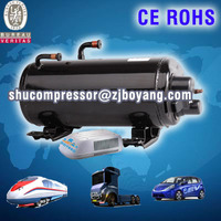 Electric car ac compressor FOR ruck grab camping car air cooled system r134a R407C electric vehicle ac compressor