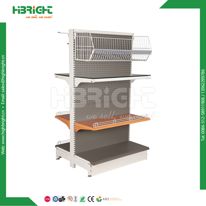Supermarket iron display shelf design super shop rack