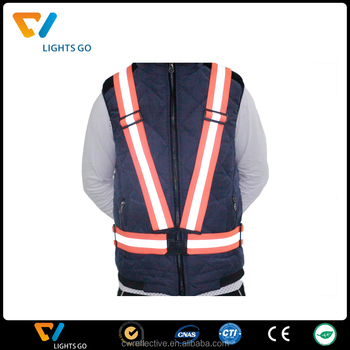 free size adjustable safety security hi vis reflective vest stripes jacket