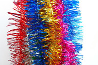 Christmas Tinsel Garland With Bell,Indoor & Outdoor Decoration