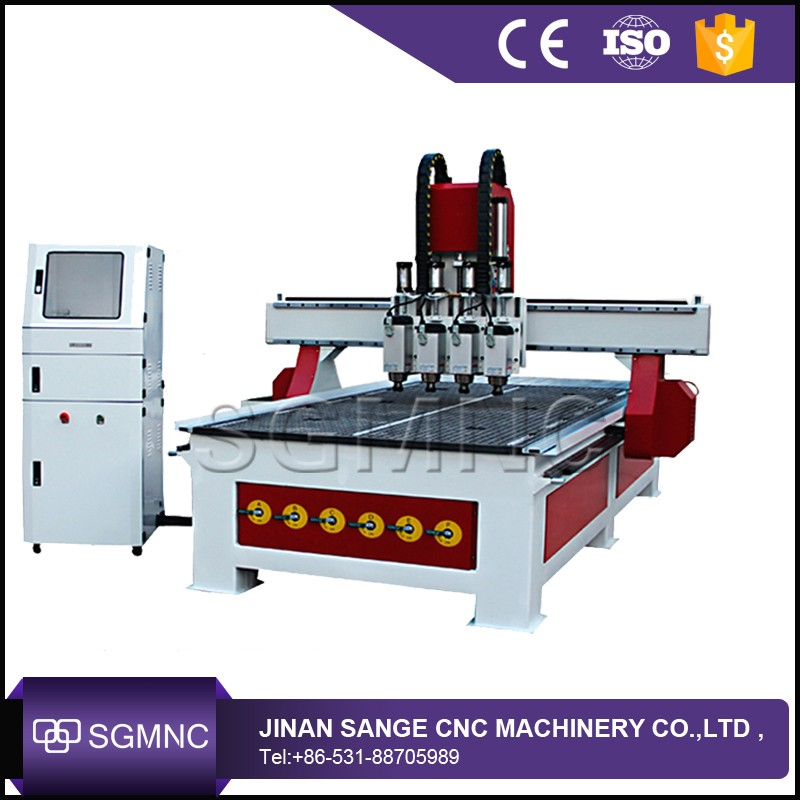 1325 woodworking cnc router 3 heads diy wood engraving machine