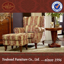0029 neo-classic home furniture sofa fabric living room wooden rest chair