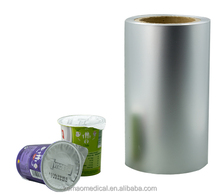 Aluminum foil lids in roll for food and beverage plastic cups packaging