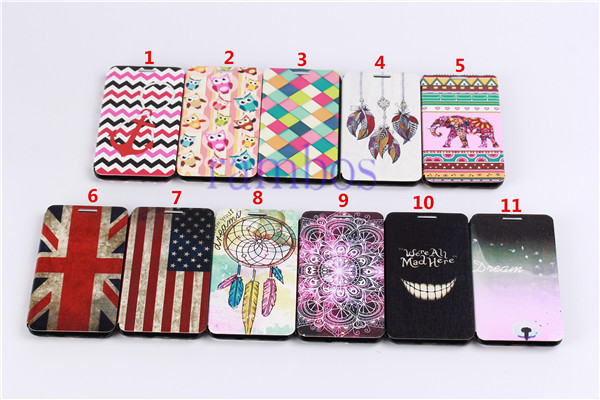 Floral Painted Leather Wallet Stand Flip Case Cover for Samsung Galaxy Alpha G850F /S5 i9600/ S4 i9500