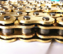 motorcycle spare parts gold color O-ring motorcycle chain 428