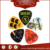 Hot Sell Celluloid Printed Famous Band Logo Guitar Picks