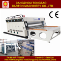 factory price semi auto 4 color printing carton box making machine