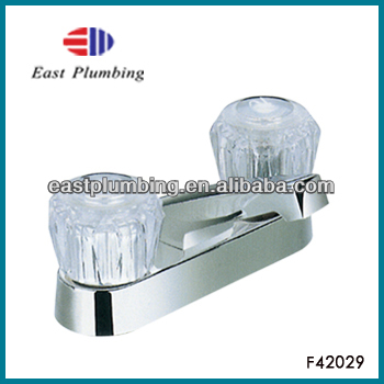 F42029 East-Plumbing Brand New Chrome Plated Plastic Dual Handle Faucet